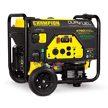 Champion 3400-Watt dual Fuel a ready portable inverter Generator bearing in mind electric begin