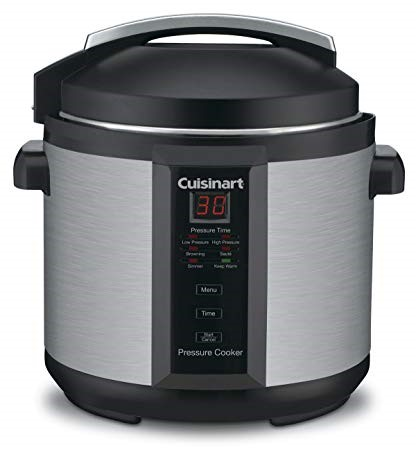 Cuisinart model CPC-600 6 Quart 1000 Watt Electric Pressure Cooker which is Stainless Steel