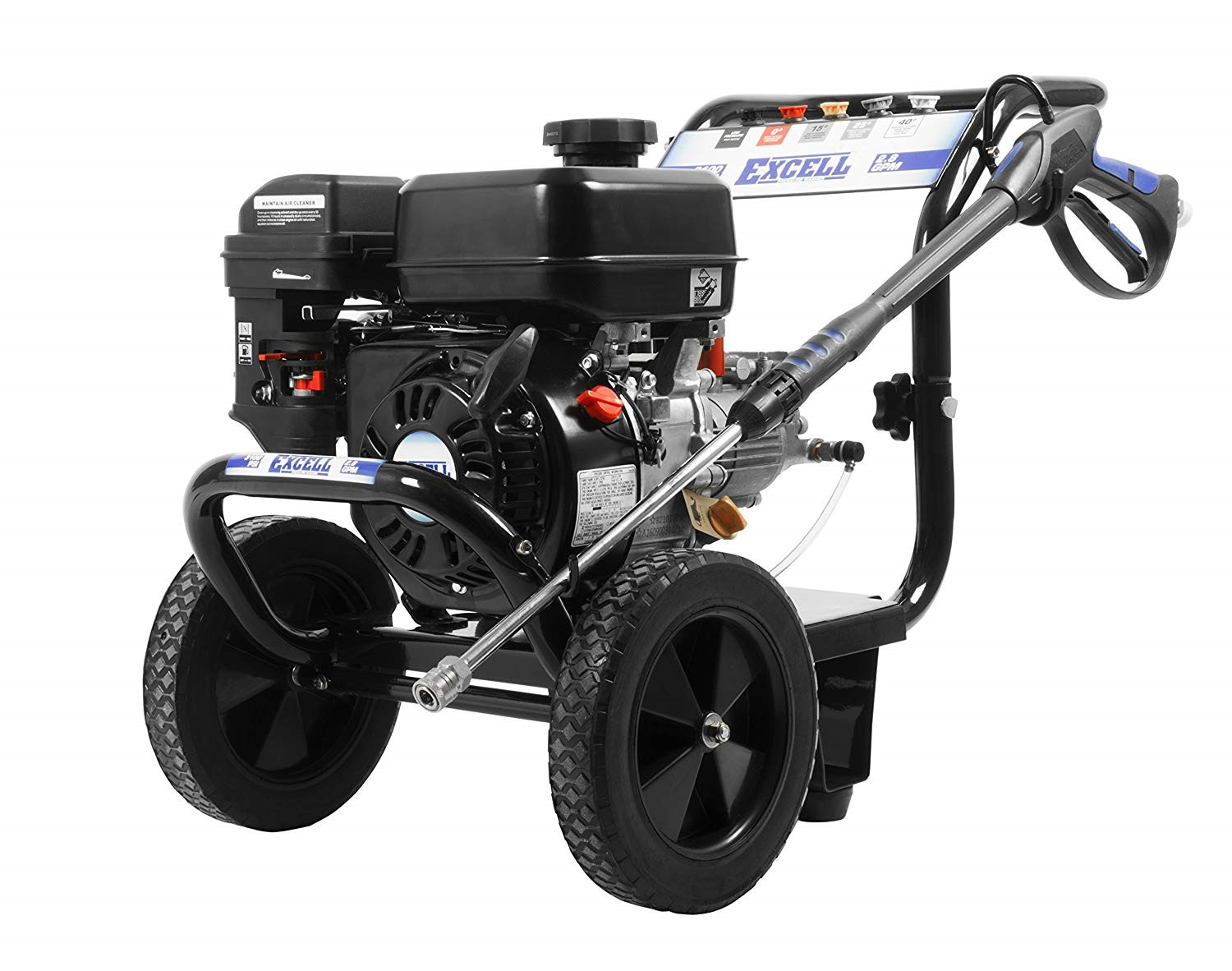 Excel EPW2123100 3100 PSI 2.8 GPM Cold Water 212CC Gas Powered Pressure Washer