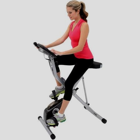 Exerpeutic Folding Magnetic Upright Bike once Pulse