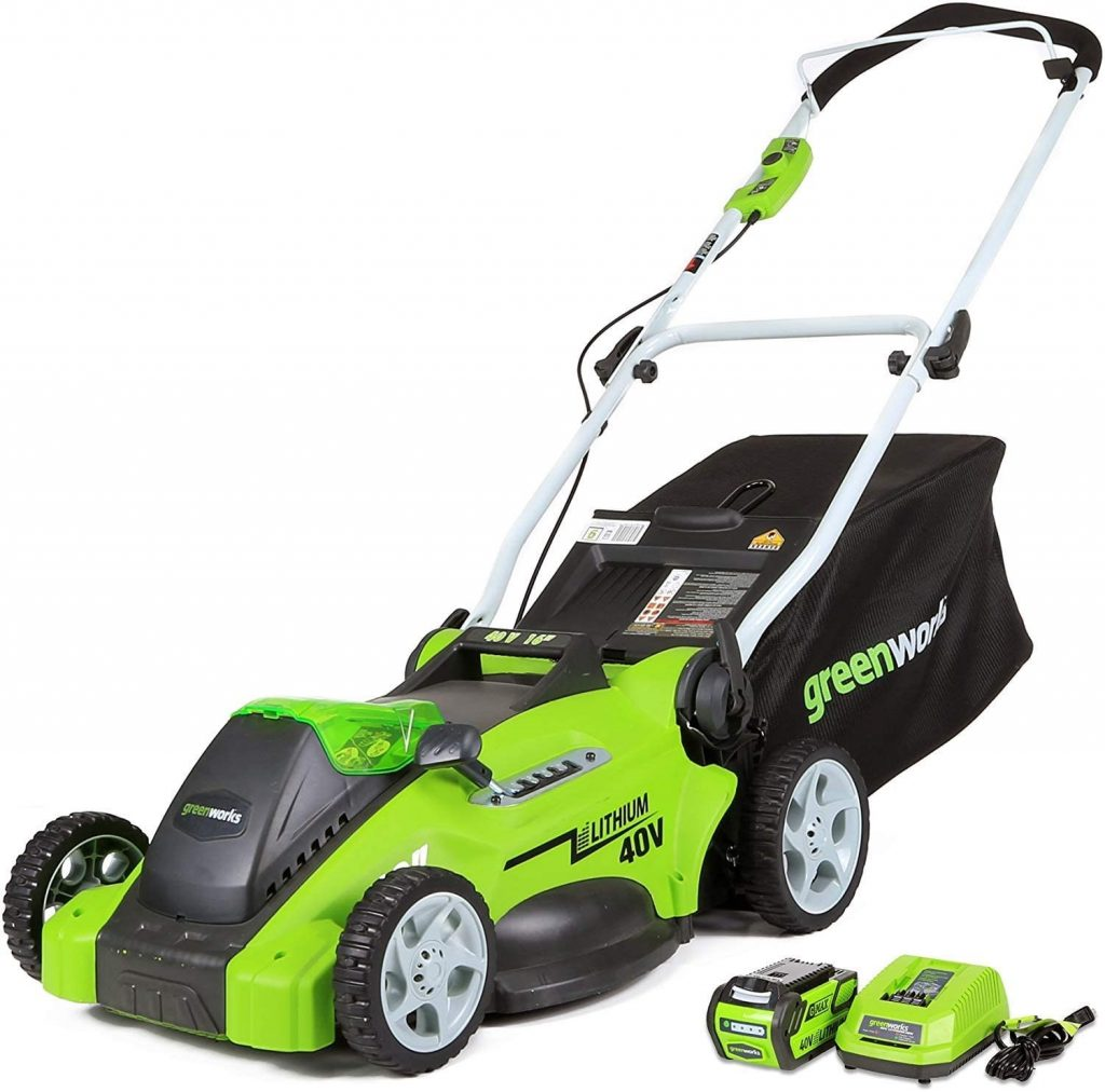 GreenWorks 25322 lawn mower, 16 Battery included