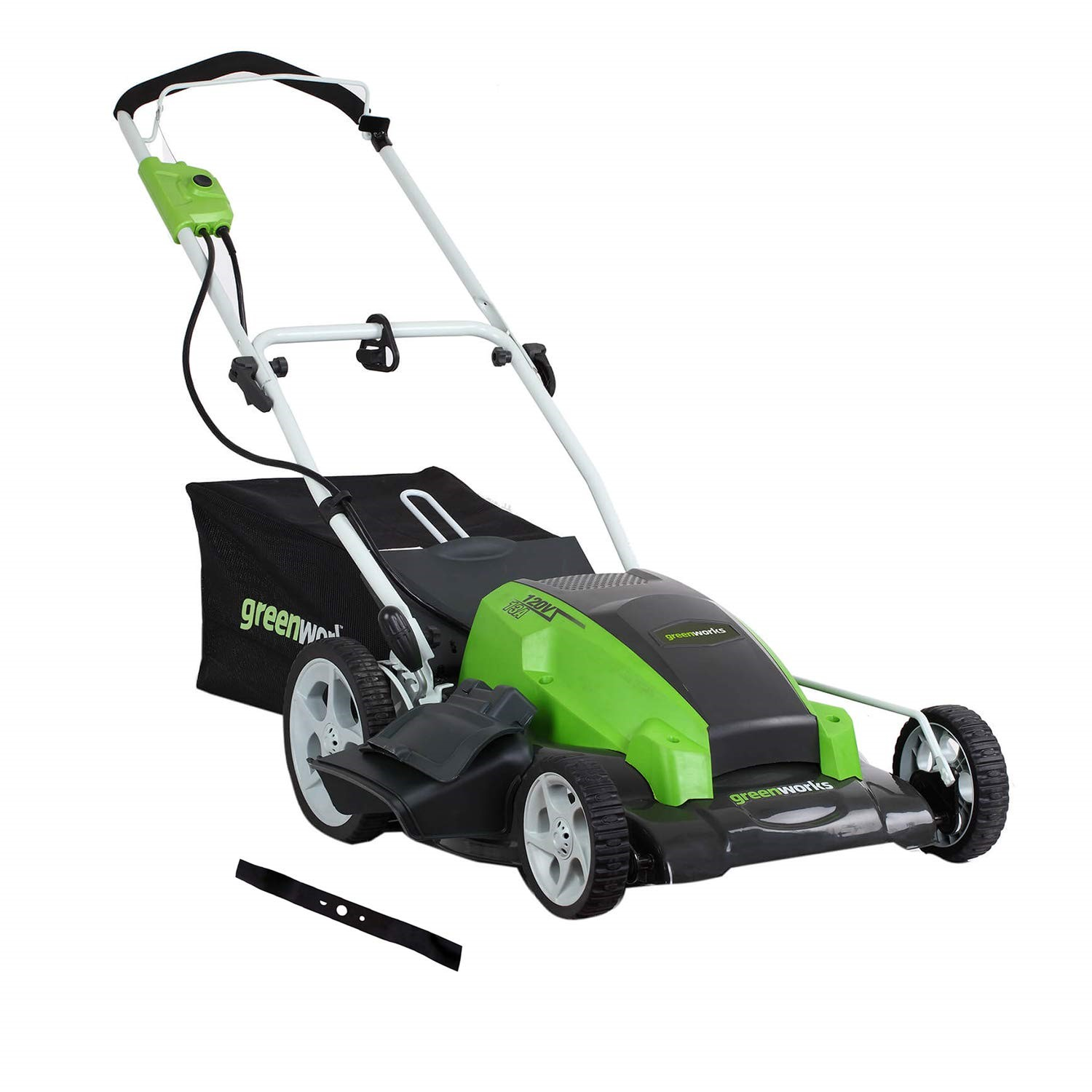Greenworks 12 Amp Corded 18-Inch Lawn Mower 25012