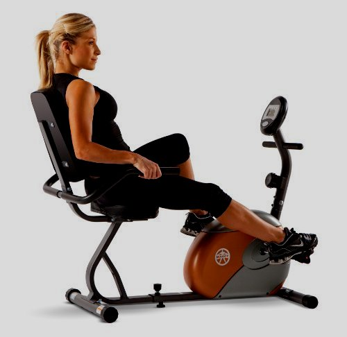 Marcy Recumbent Exercise Bike as soon as Resistance ME-709