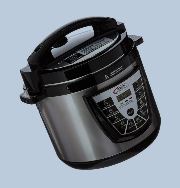 Power Pressure Cooker XL 6 Quart Silver