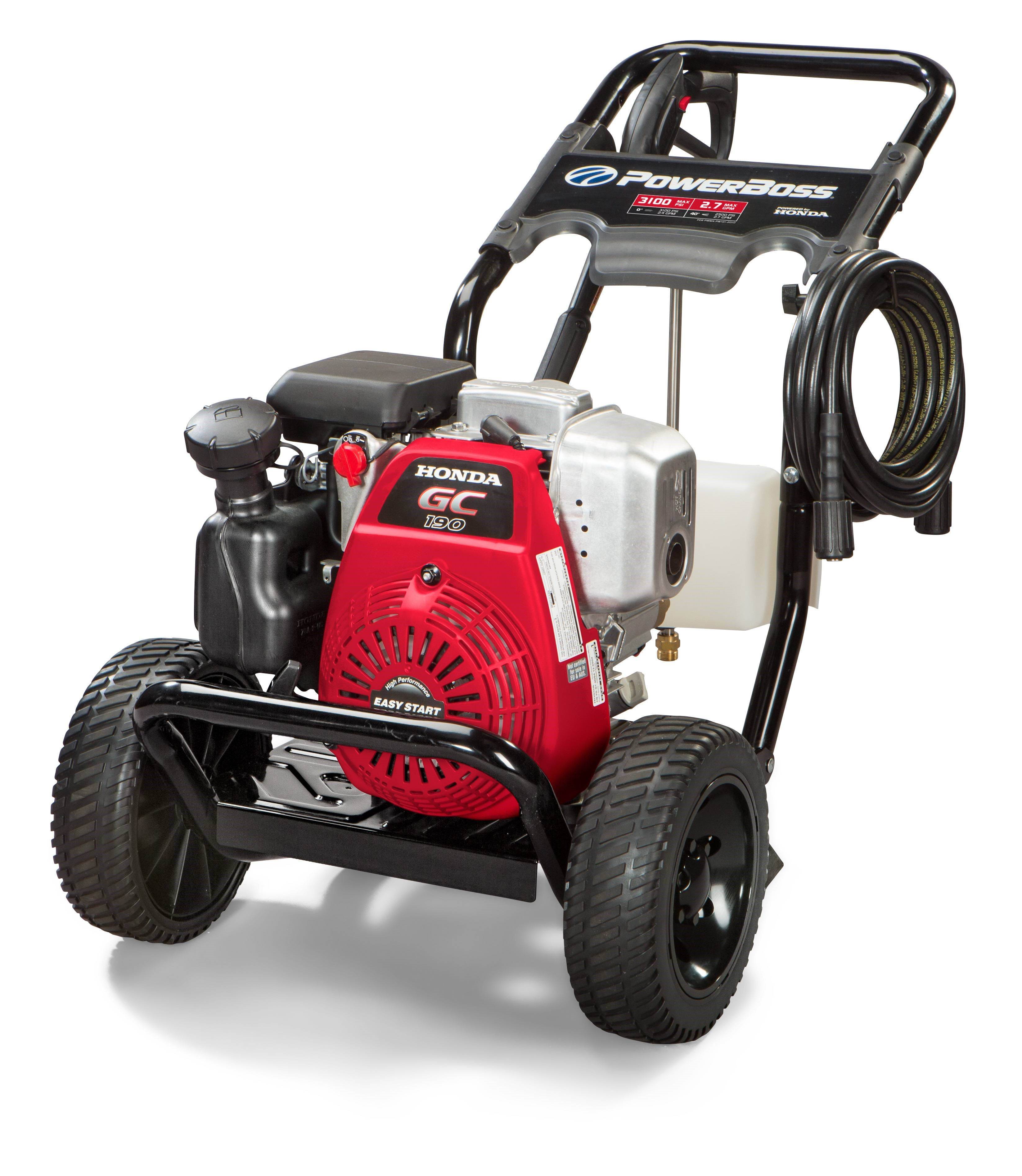 PowerBoss Gas Pressure Washer which has 3100 PSI, 2.7 GPM