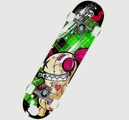 Punisher Skateboards 9001 cherry Blossom entire Skateboard, Red, 31-Inches
