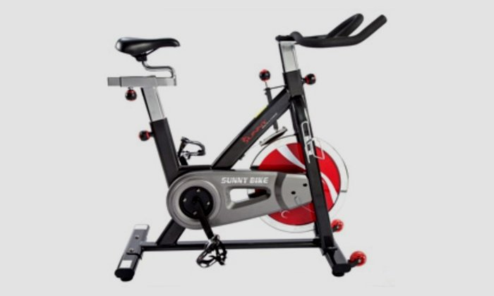 For Sunny Health and Fitness SF-B1002 Belt Drive Inside Cycling Bike, Grey colour