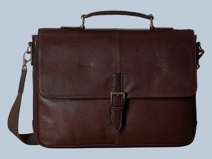 Fossil Haskell Double Zip Briefcase