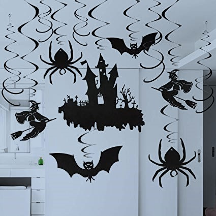 Amscan, Witches & Bats Swirl Ceiling Hanging Decoration