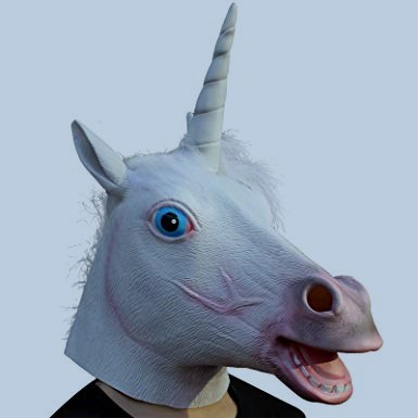 Creepy Party Unicorn Mask