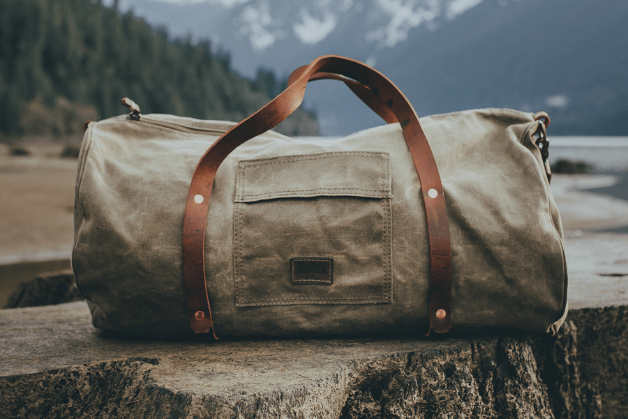 Lands' End Waxed Canvas Duffle Bag