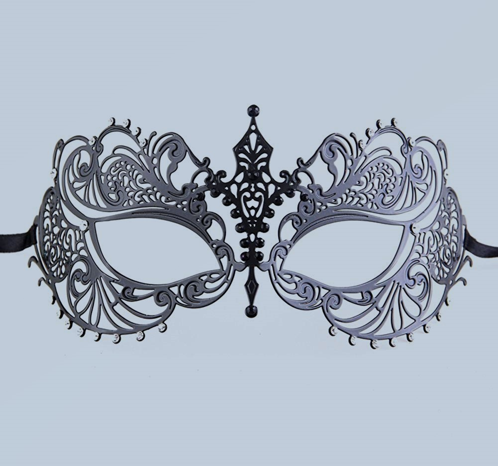 Luxury Mask Women's Laser slash Metal Venetian Pretty Masquerade Mask