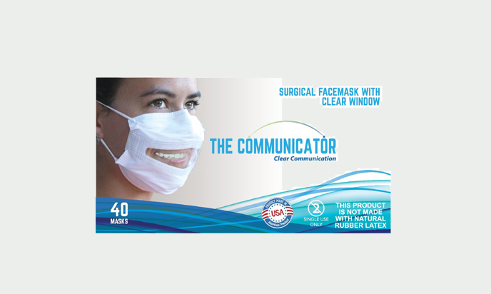 Safe'N'Clear Communicator Surgical Mask