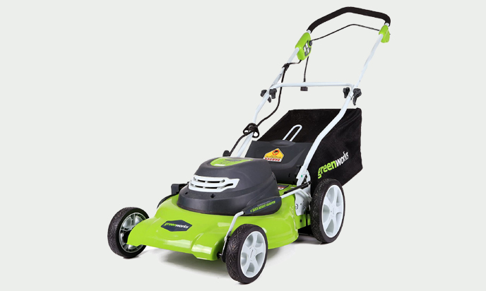 Greenworks 20-Inch 12-Amp Corded Lawn Mower
