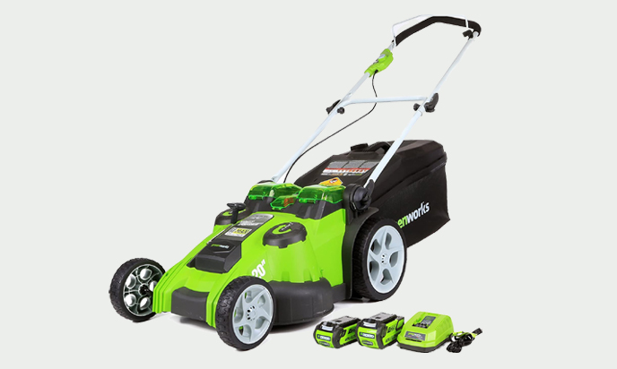 Greenworks 40V 20-Inch Cordless Twin Force Lawn Mower