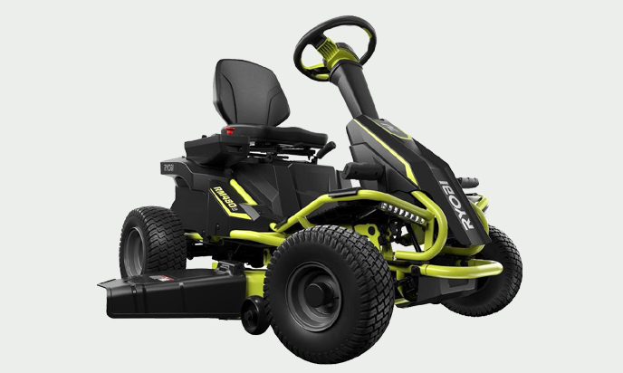 Ryobi 38-Inch Battery Electric Rear Engine Riding Lawn Mower